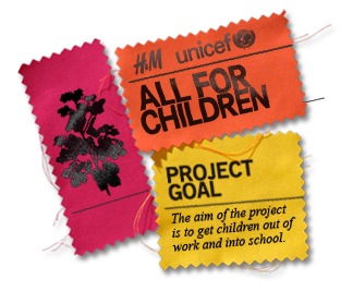 The All for Children Collection by H+M and Unicef means one more for all