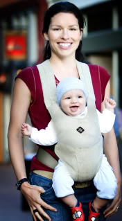 Babywearing, now a nice new shade of green