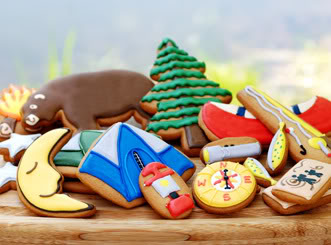 Great Outdoors Cookies from Eleni's Happy Camper Week on Cool Mom Picks: