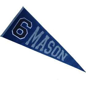 Three cheers for custom pennants!