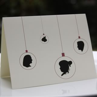 Silhouette cards – Make sure they get your good side.