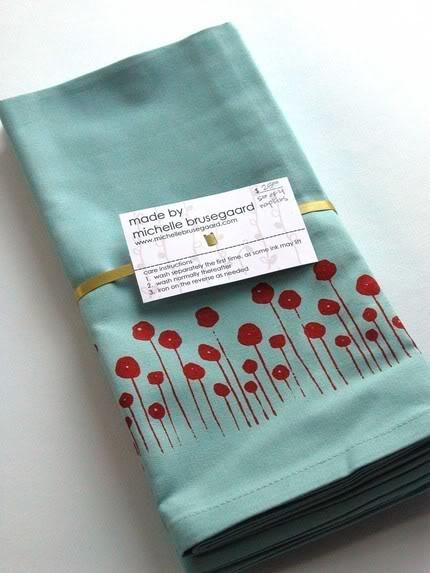 Picnic Week: Cool Handmade Napkins and Eco-Tableware