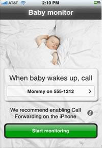 A baby monitor for your iPhone? Sure. What the heck.