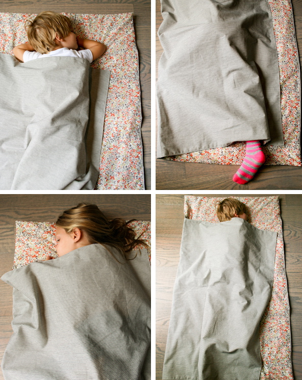DIY: Cute napmat for preschoolers. No guarantees if it will actually get them to sleep.