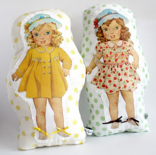 Vintage paper dolls that feel right at home on your couch