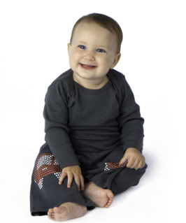 Cute non-skid pants give crawlers a leg up