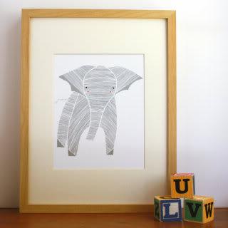 Animal art prints that don't feel babyish – no pastels, no hair bows.