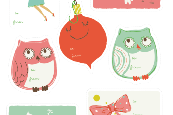 Free printable holiday gift tags from Sea Urchin Studio | Cool Mom Picks