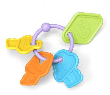 Is it safe for babies to suck on keys? They are if they're these keys.
