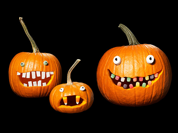 Cool pumpkin decorating idea: Use candy!