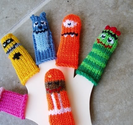 Yo Gabba Gabba finger puppets, aka There's a Party on my Fingers