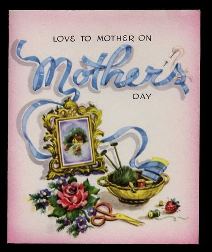 Cheap and easy Mother's Day gift idea – vintage cards as artwork