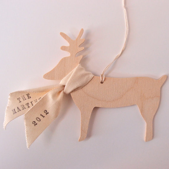 Dasher, Rudolph and this guy: an adorable personalized reindeer ornament for the tree