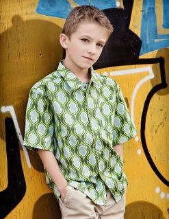 A button-down shirt for boys who are growing up