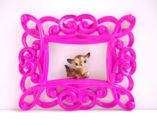 Frames with flair. Fun. Possibly fuchsia.