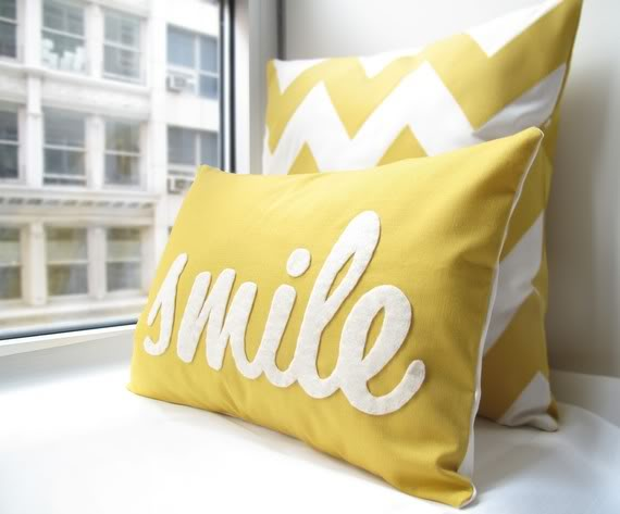 Handmade pillows to make you smile.