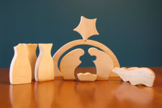 4 modern nativity sets, not one of which lights up