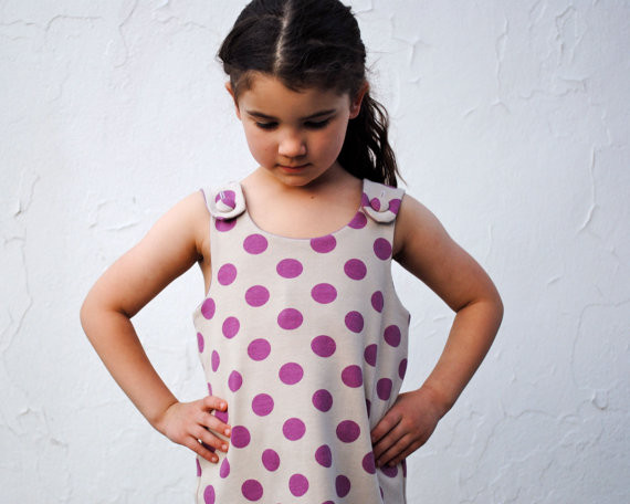 Sewn Natural: handmade girls dresses that can clear away the May showers