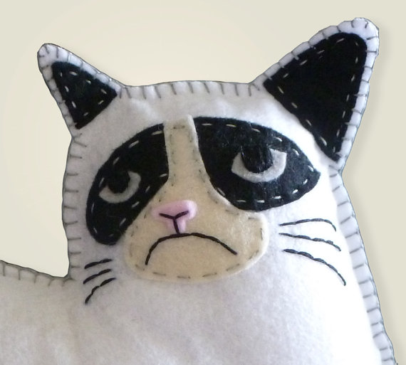 Sew your own Grumpy Cat. Trust us, he'll hate it.
