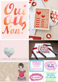 Lovely printables for Valentine's Day