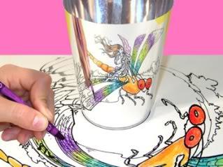 Coloring meets funhouse mirror magic