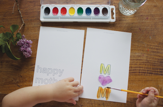5 easy handmade Mother's Day card ideas from the kids. Promise.