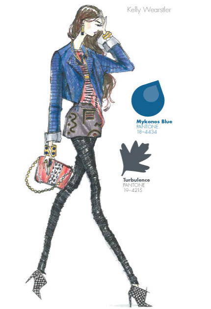 How to wear the Pantone colors of the season: Mykonos Blue and Turbulence Grey