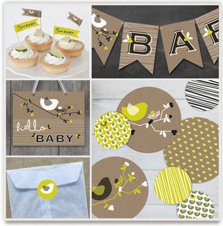 New! The perfect party decor kits from Minted.com. Now your parties can look like Those Parties without much effort at all.