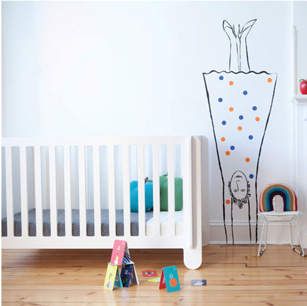 The elephant in the room: Actually a gorgeous new crib from Oeuf.