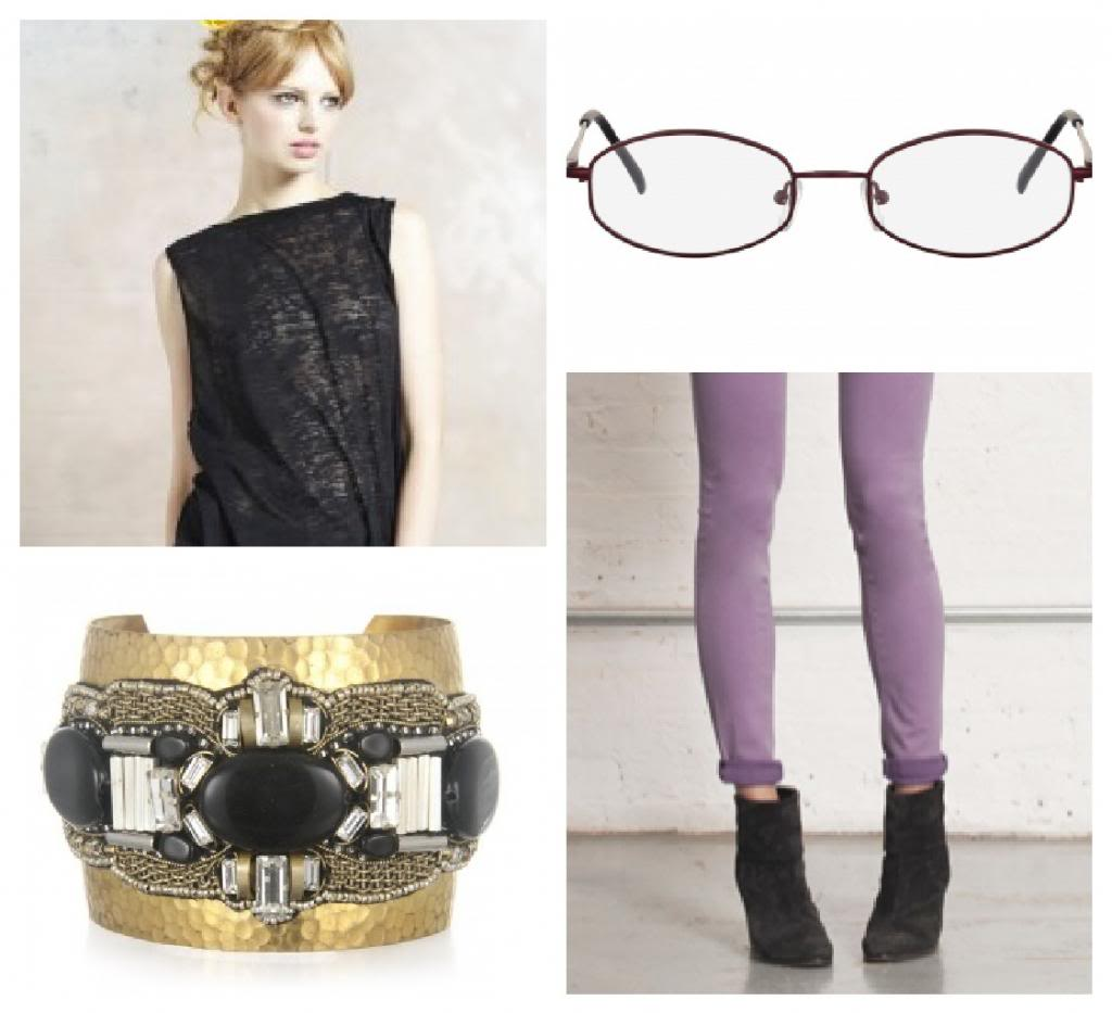 4 fabulous outfits to match 4 fabulous pairs of glasses