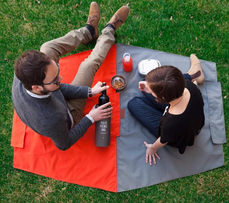 The portable picnic blanket