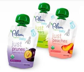 Plum Organics baby food – Not just plums, but definitely just organics.