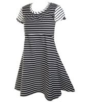The perfect little black (and white) maternity dress