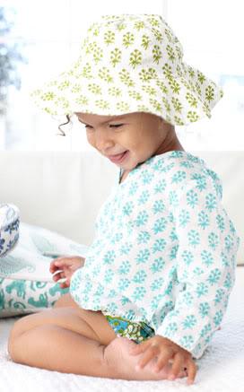 Baby sunhats go bohemian