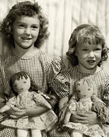 Rag dolls from simpler, battery-free times
