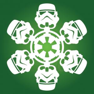 Look, honey, it's snowing Stormtroopers.