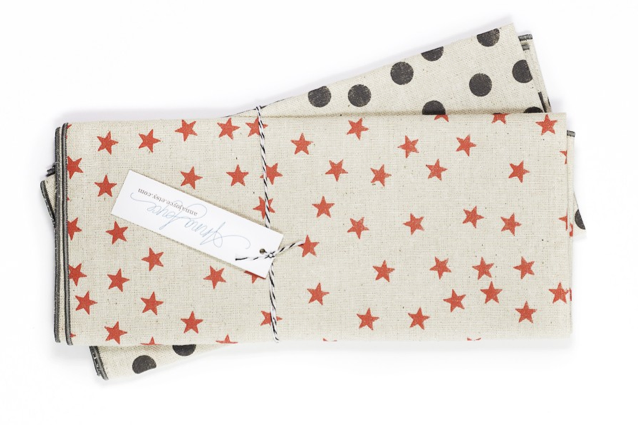 Stars, not so many stripes — tasteful hostess gifts made for July 4 weekend.