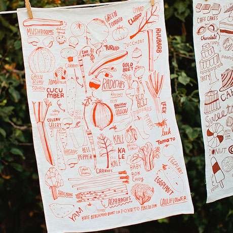 In season: tea towels as fresh as just-picked veggies