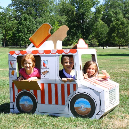 Beat the heat: eco-friendly cardboard playhouses are a cool summer retreat