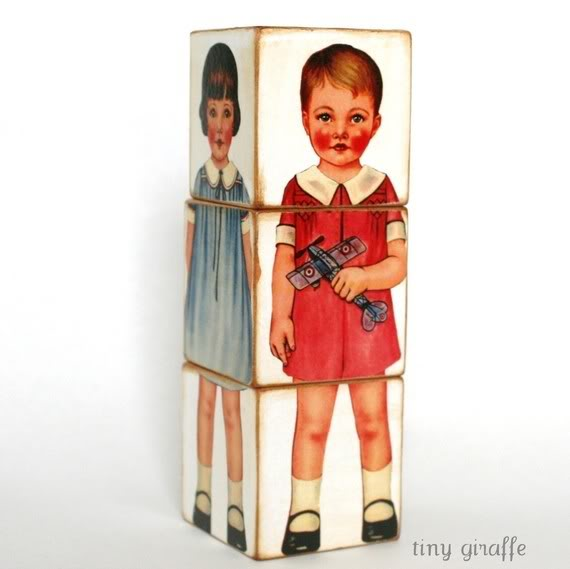 Paper dolls meet building blocks