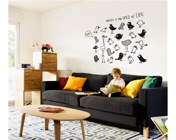 Winter white: decorate the French way with these fab wall decals