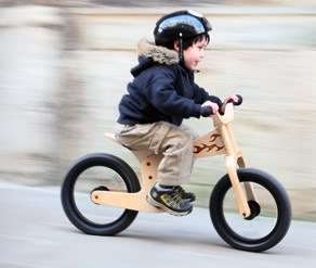 For a child's first bike, skip the training wheels, and go right to Tyke Rider