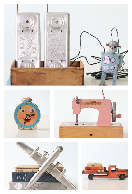 Unique nursery decor ideas: vintage toys galore