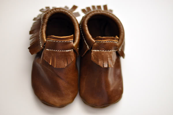 Handmade moccasins that sadly, only come in kids sizes