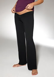"Zobha Maternity – Pants for moms who say ""Ohm."" Also, ""Oh man, I am so pregnant."""