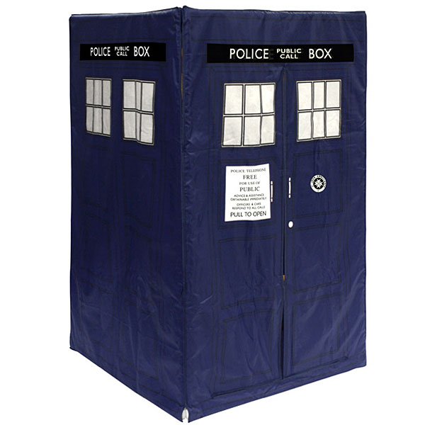 The Doctor Who TARDIS play tent: because every kid needs a time machine in the living room.