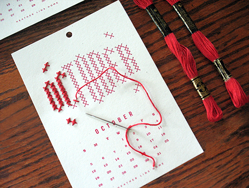 This cute and crafty DIY calendar kit has us in stitches. Literally.
