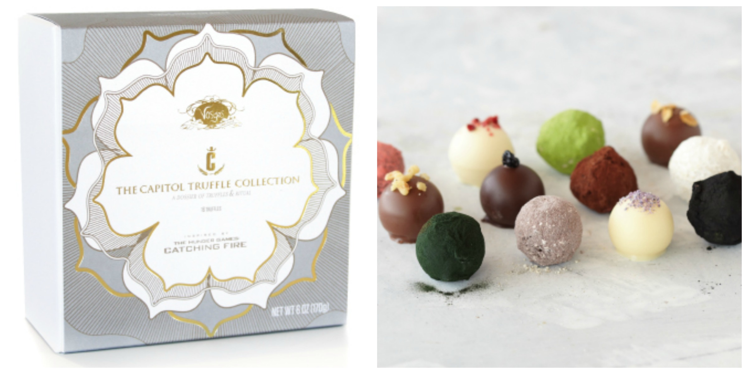 Hunger Games chocolates by Vosges:  I volunteer as tribute!