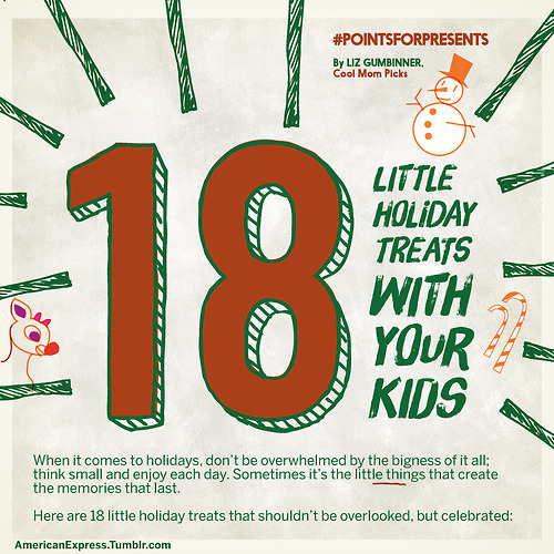 18 little holiday joys with your kids–mostly free. As most little joys are.