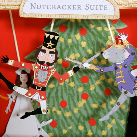 Printable Nutcracker paper dolls bring the magic to a coffee table near you.